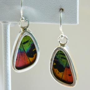 Butterfly Earrings.1.Vibrant Multicolored Wings.JPG