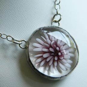 Flower Jewel Necklace.2.Leap For Lavender.JPG