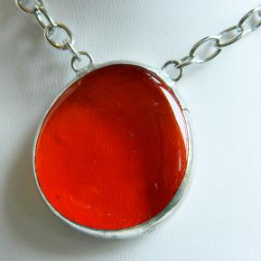 Large Jewel Necklace.2.Outta This World Orange.JPG