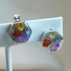 Wild Flower Post Earrings.3.Hexagon.JPG