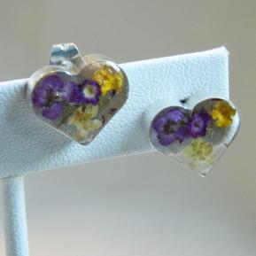 Wild Flower Post Earrings.8.Heart.JPG
