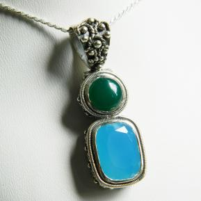 Mixed Stone Sterling Pendant.165.JPG