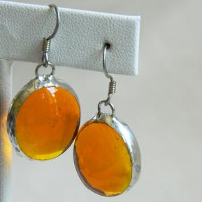Jewel Earrings.2.Outta This World Orange.JPG