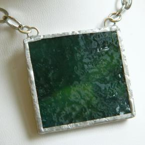 Landscape Necklace.18a.Textured Deep Green.JPG