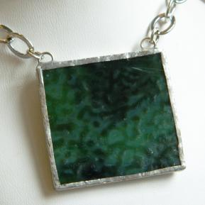 Landscape Necklace.18b.Textured Deep Green.JPG