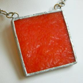 Landscape Necklace.1a.Opaque Textured Orange.JPG