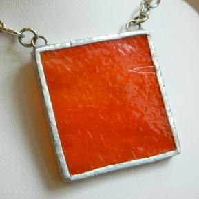 Landscape Necklace.1b.Opaque Textured Orange.JPG