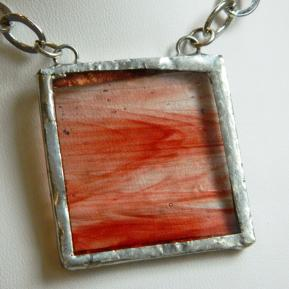 Landscape Necklace.6b.Orange Red Clear Stripe.JPG