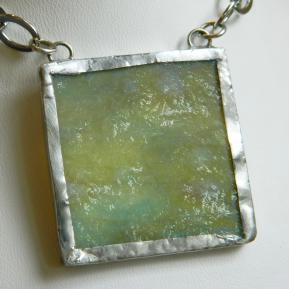 Landscape Necklace.9a.Textured Green.JPG