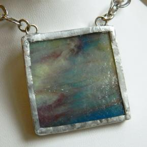 Landscape Necklace.9b.Textured Green Purple Blue.JPG