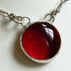 Small Jewel Necklace.1.Righteous Red.JPG