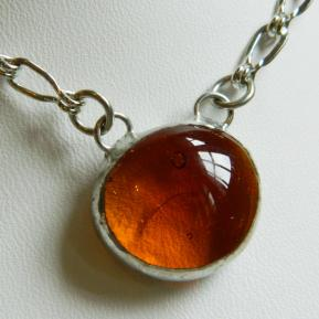Small Jewel Necklace.2.Outta This World Orange.JPG