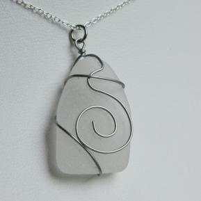 Spiral Sea Glass Pendant.1.Clear.JPG