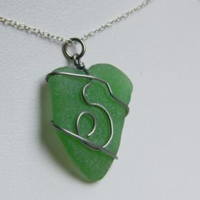 Spiral Sea Glass Pendant.3.Green.JPG