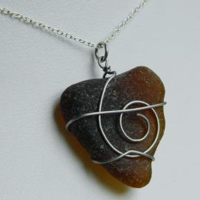 Spiral Sea Glass Pendant.4.Brown.JPG