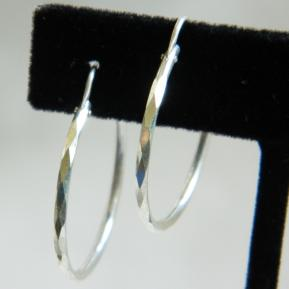 Faceted Sterling Hoop.48.JPG